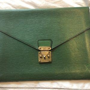 Authentic Louis Vuitton clutch (green)